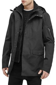 French Connection Maxubi Satin Bonded Cotton Jkt