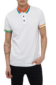 French Connection Black Amazon Stripe Polo Shirt
