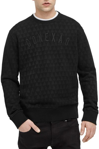 French Connection Tribal Triangle Crew Sweat