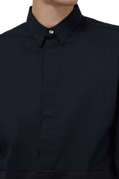 French Connection Stretch Poplin Hybrid Connery Shirt