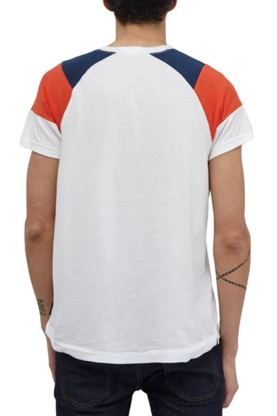 French Connection Cut And Panel Park Raglan T-Shirt