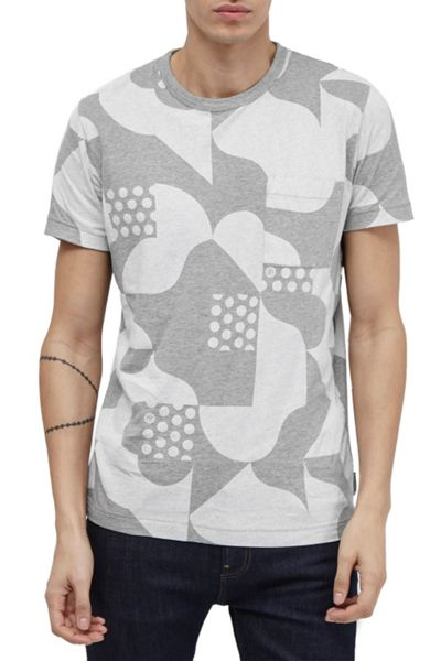 French Connection Tile Camo Jersey T-Shirt