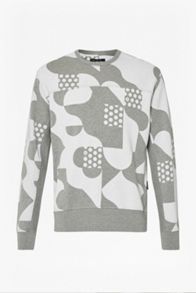 French Connection Tile Camo Crew Neck Sweatshirt