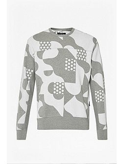 Tile Camo Crew Neck Sweatshirt