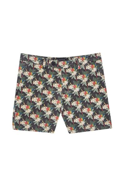French Connection Tropical Parrot Canvas Shorts