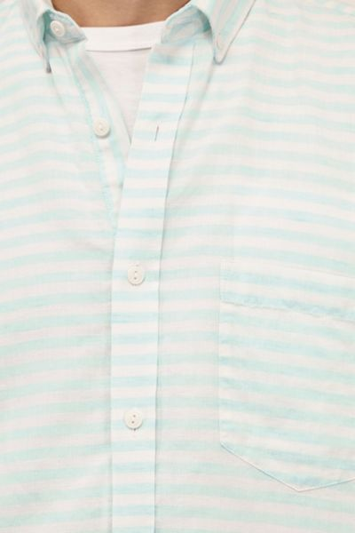 French Connection Fresh Linen Stripe Short Sleeves Shirt