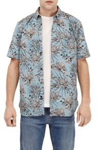 French Connection Koko Cotton Floral Short Sleeves Shirt