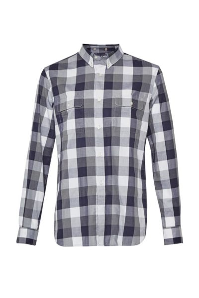 French Connection Lifeline Karate Plaid Brosnan Shirt