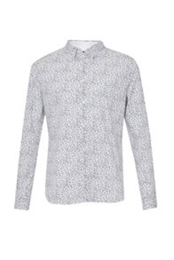 French Connection Hawthorn Hidden Contrast Slim Shirt