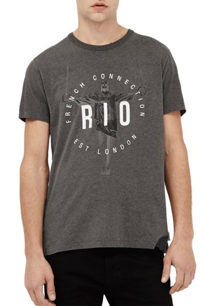 French Connection Rio Print T-Shirt