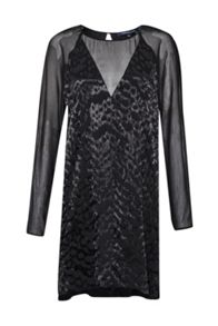 French Connection Aria Jacquard Satin Tunic