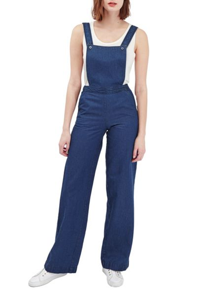 French Connection Riviera Denim Wide Leg Dungarees