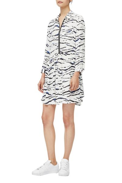 French Connection Tapir Wave Crepe Shirt Dress