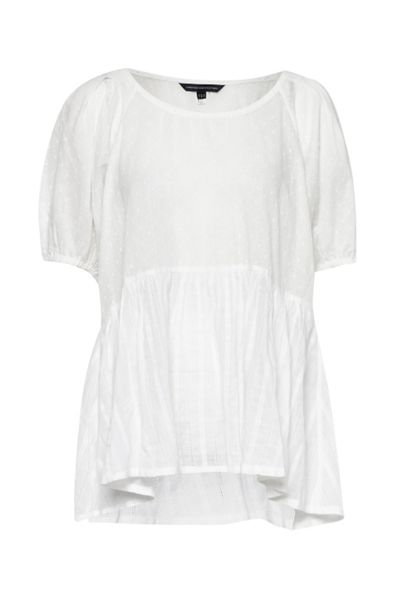French Connection Noah Voile Smock Top