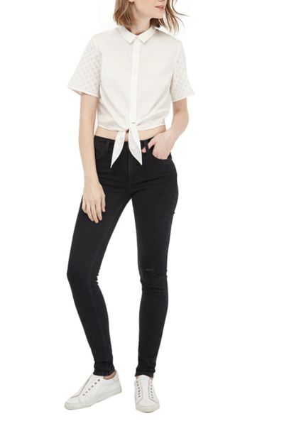 French Connection Geo Flora Cropped Shirt