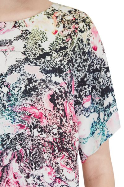 French Connection Mineral Pool Printed Top