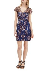 French Connection Evie Sparkle Embroidered Mini Dress