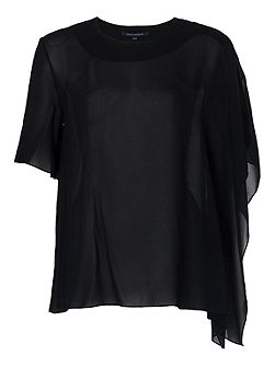 Horizon Draped Georgette Top