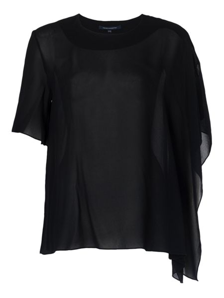 French Connection Horizon Draped Georgette Top