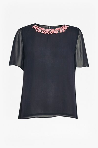 French Connection Samba Star Embellished Top