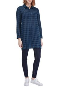 French Connection Long Open Weave Check Shirt