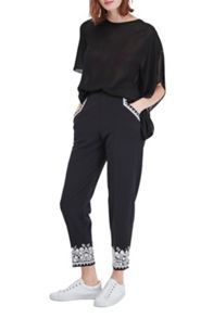 French Connection Jasmine Embroidered Trousers