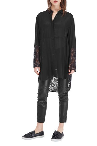 French Connection Taza Lace Oversized Shirt