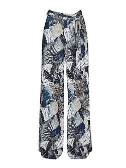 Lala Palm Drape Wide Leg Trousers