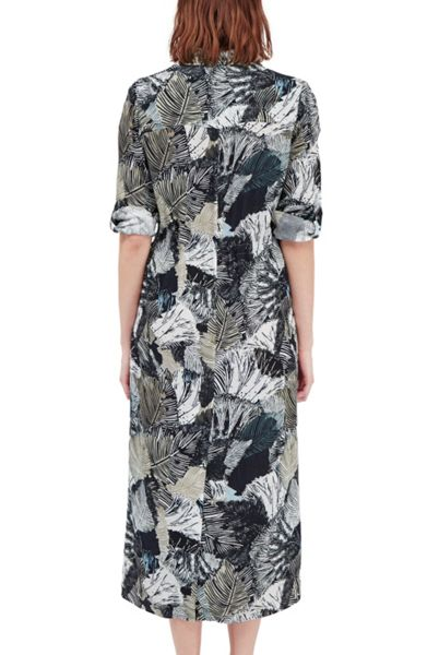 French Connection Lala Palm Printed Shirt Dress