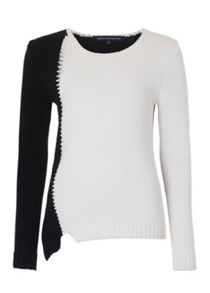 French Connection 2 Tone Asymmetric Knit