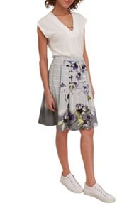 Great Plains Trellis Garden Pleated Skirt