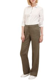 Great Plains Shropshire Linen Straight Leg Trousers