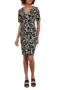 Great Plains Silhouette Fitted V Neck Dress