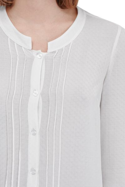 French Connection Empire Dot Embroidered Blouse