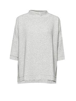 French Connection Sudan Marl Ribbed Top