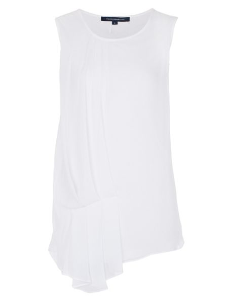 French Connection Florrie Pleated Drape Detail Top
