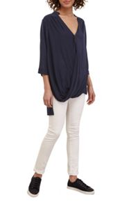 Great Plains Remix Jersey Wrap Over Blouse