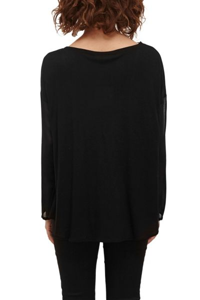 Great Plains Remix Jersey Sheer Sleeved Top