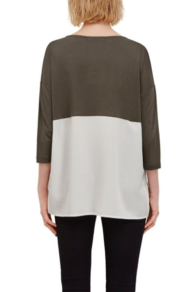 Great Plains Remix Jersey Contrast Hem Top