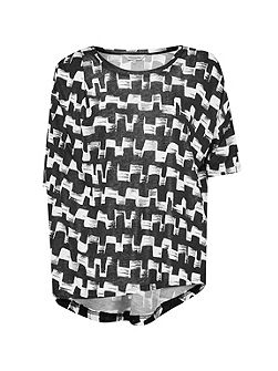 Cubist Wave Drape T-Shirt