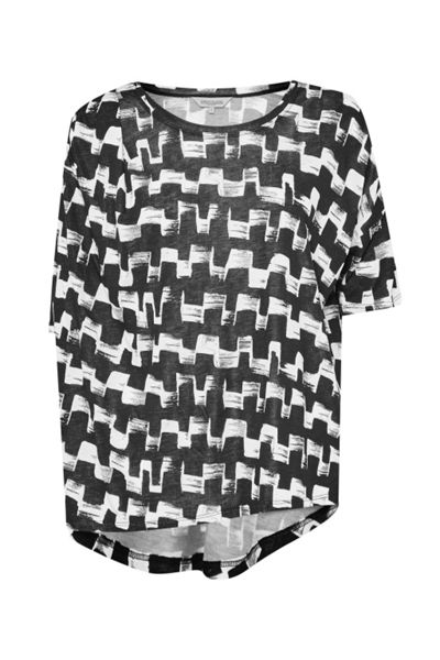 Great Plains Cubist Wave Drape T-Shirt