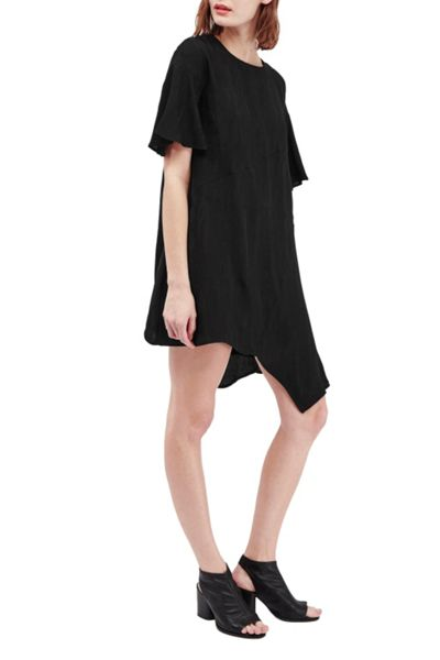 French Connection Palm Crepe Jacquard Swing Dress