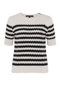 French Connection Zipped Chevron Jumper