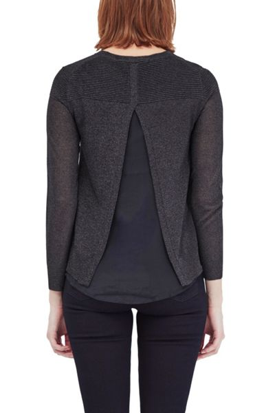 French Connection Adele Sheer Metallic Jumper