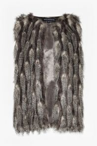 French Connection Danny Faux Fur Gilet