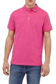 French Connection Cotton Magoo Pique Rubber Polo Shirt