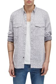 French Connection Driver Chambray Floral Shirt
