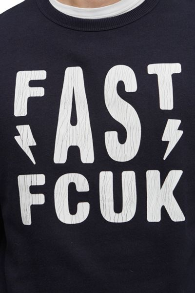 French Connection Fast As Fcuk Logo Sweatshirt