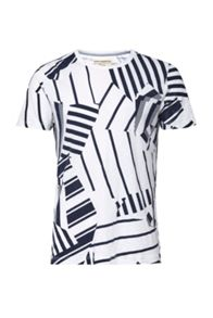 French Connection Mustang Stripe Printed T-Shirt
