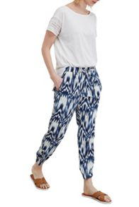 Great Plains Ashanti Printed Drape Trousers